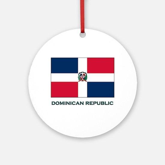 The Dominican Republic Flag Stuff Ornament (Round)