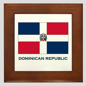 The Dominican Republic Flag Stuff Framed Tile