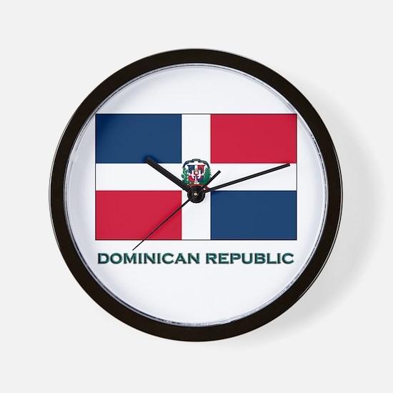 The Dominican Republic Flag Stuff Wall Clock