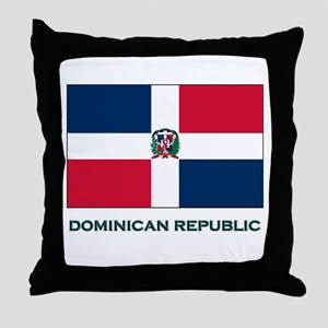 The Dominican Republic Flag Stuff Throw Pillow