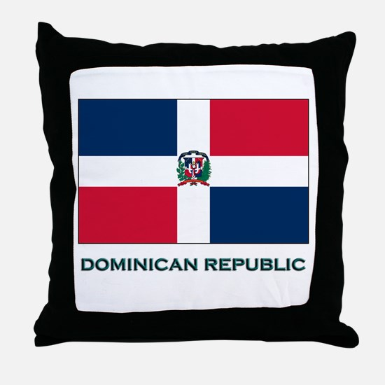 The Dominican Republic Flag Stuff Throw Pillow
