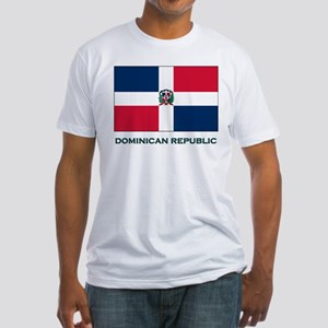 The Dominican Republic Flag Stuff Fitted T-Shirt