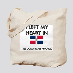 I Left My Heart In The Dominican Republic Tote Bag