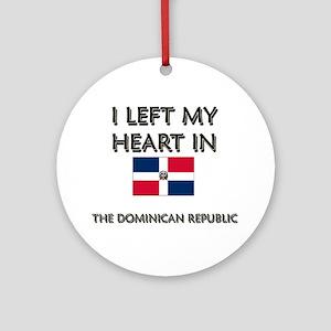 I Left My Heart In The Dominican Republic Ornament