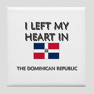 I Left My Heart In The Dominican Republic Tile Coa