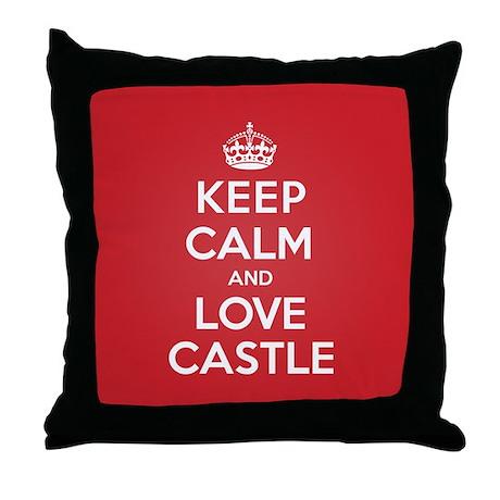 K C Love Castle Throw Pillow