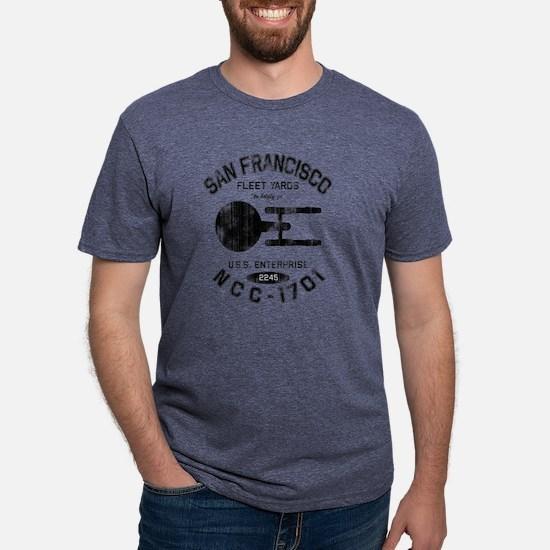san-francisco-fleet-yards-w Mens Tri-blend T-Shirt