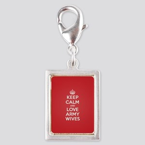 K C Love Army Wives Silver Portrait Charm