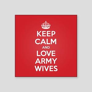 "K C Love Army Wives Square Sticker 3"" x 3"""