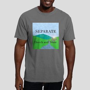 church and hate dark squ Mens Comfort Colors Shirt