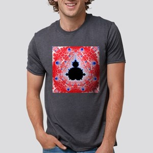 Mandelbrot fractal Mens Tri-blend T-Shirt