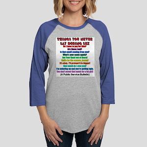 t-shirt public service Womens Baseball Tee
