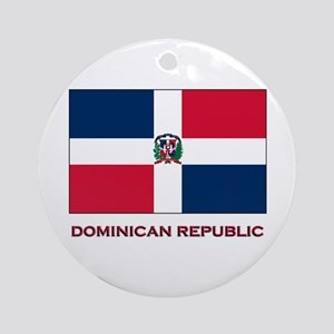 Viva The Dominican Republic Ornament (Round)