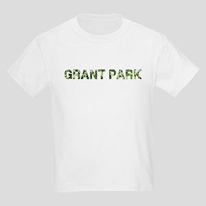 Grant Park, Vintage Camo, Kids Light T-Shirt
