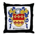 Blancafort Coat of Arms Throw Pillow
