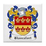 Blancafort Coat of Arms Tile Coaster