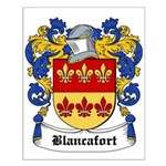 Blancafort Coat of Arms Small Poster
