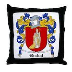 Bisbal Coat of Arms Throw Pillow