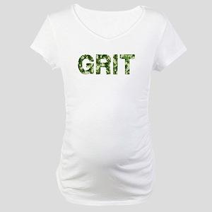 Grit, Vintage Camo, Maternity T-Shirt
