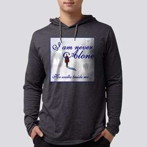 Never Alone4 Mens Hooded Shirt