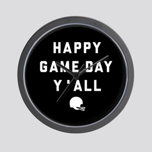 Happy Game Day Y'All Wall Clock