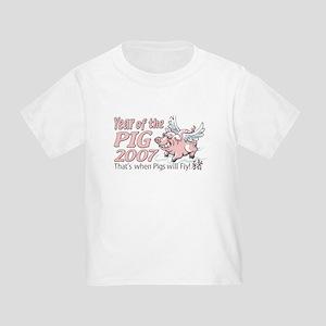 Flying Pig 2007 Toddler T-Shirt