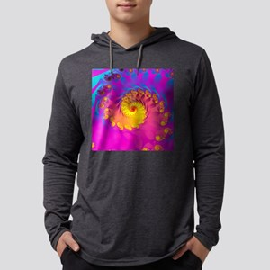 Julia fractal Mens Hooded Shirt