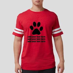 Custom add text Dogs paw Mens Football Shirt