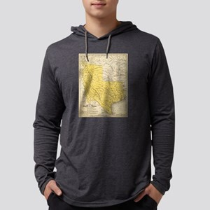 Vintage Map of Texas (1847) Mens Hooded Shirt