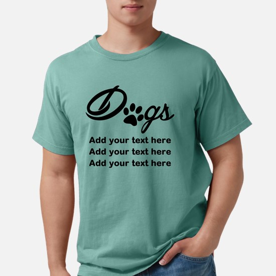 custom add text dogs paw Mens Comfort Colors Shirt