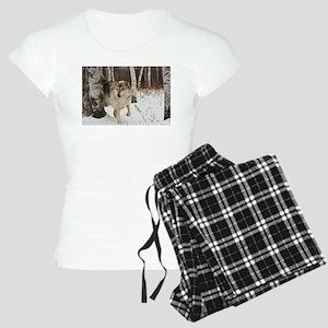 Winter Wolf Women's Light Pajamas