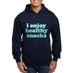 Cute! I Enjoy Healthy Snacks Hoodie (dark)