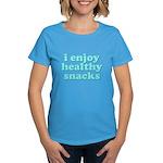Cute! I Enjoy Healthy Snacks Women's Dark T-Shirt