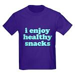 Cute! I Enjoy Healthy Snacks Kids Dark T-Shirt