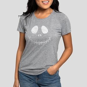 Skeleton Face Womens Tri-blend T-Shirt