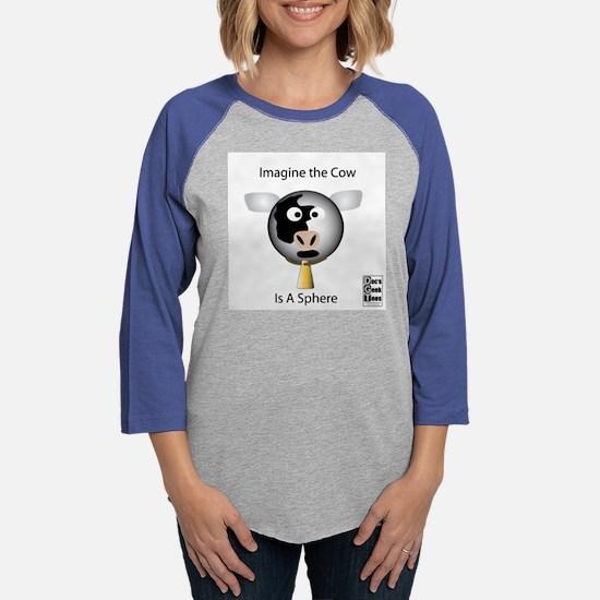 Cow Sphere ears white value.pn Womens Baseball Tee