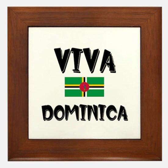 Viva Dominica Framed Tile