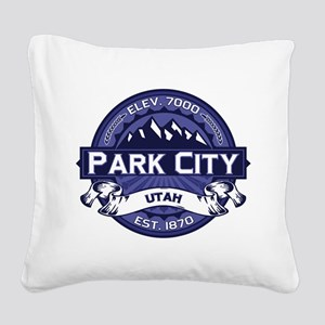 Park City Midnight Square Canvas Pillow