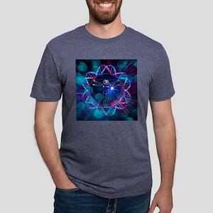Human genome, conceptual ar Mens Tri-blend T-Shirt