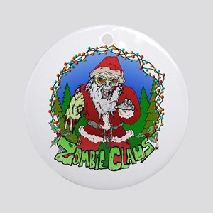 Zombie Claus Ornament (Round)