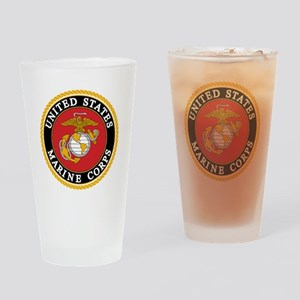 USMC emblem e2 Drinking Glass