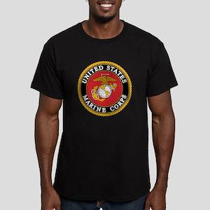 USMC emblem e2 Men's Fitted T-Shirt (dark)