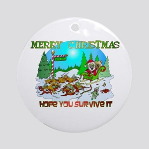 Zombie Christmas Killings Ornament (Round)