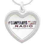 Cannabis Nation Radio Silver Heart Necklace
