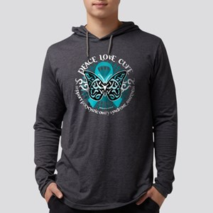 PCOS-Butterfly-Tribal-2-blk Mens Hooded Shirt