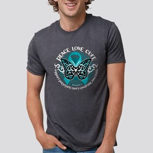 PCOS-Butterfly-Tribal-2-blk Mens Tri-blend T-Shirt