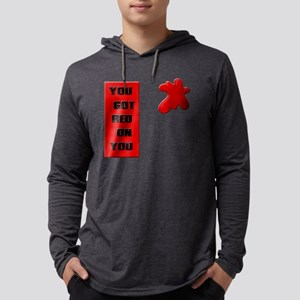 2-redonyoublack Mens Hooded Shirt