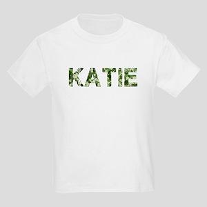 Katie, Vintage Camo, Kids Light T-Shirt