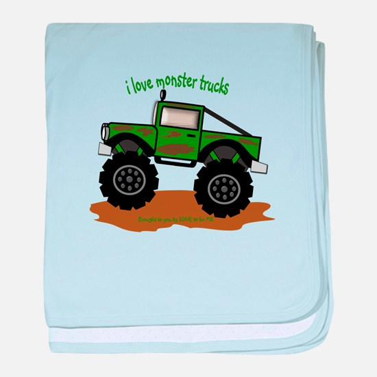 MONSTER TRUCK - LOVE TO BE ME baby blanket