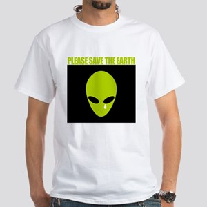 White T-Shirt - Save the earth